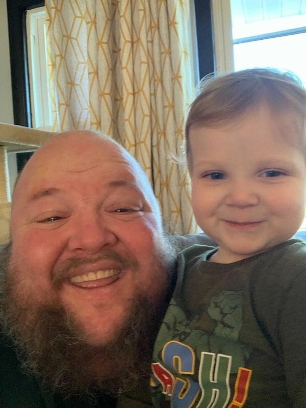 Joel and grandson